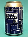 Frontaal That's What Said, Gamma 33cl